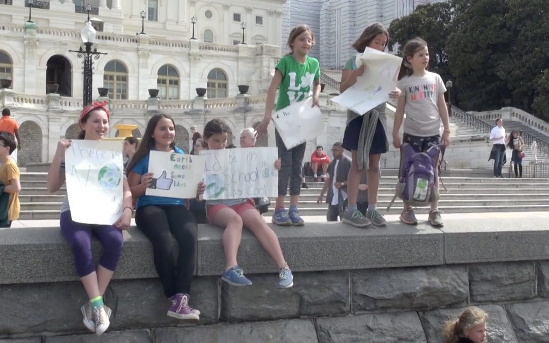 "VIDEO: Young activists stage ""Climate Strike"" in DC"