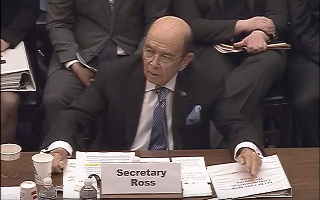 Commerce secretary denies wrongdoing, ulterior motives for census citizenship question