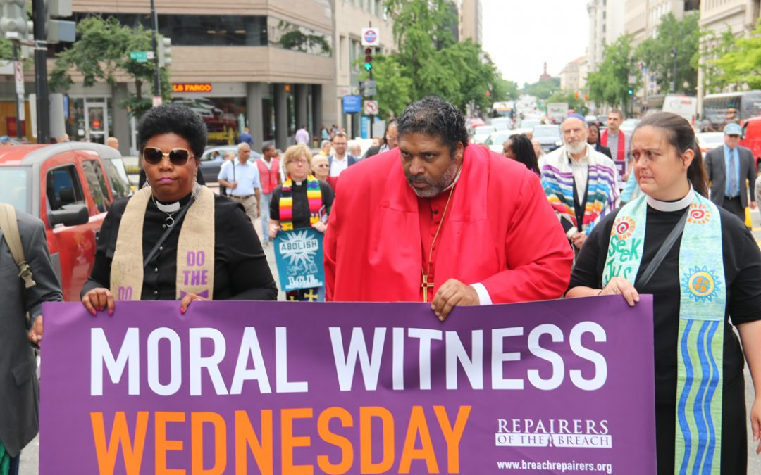 "Faith leaders march to White House to deliver ""a moral report"""
