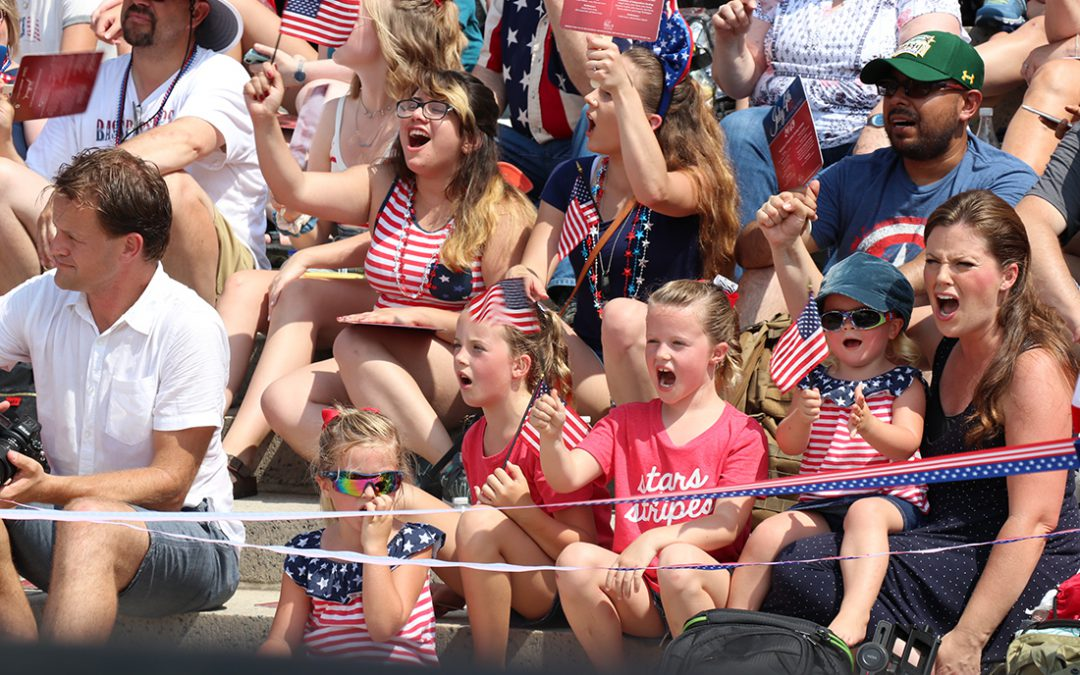 July 4 crowd reminded of country's values at Declaration of Independence reading