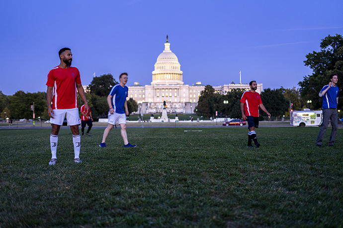 Egyptian Coptic Christians, congressional staffers play soccer, raise discrimination awareness