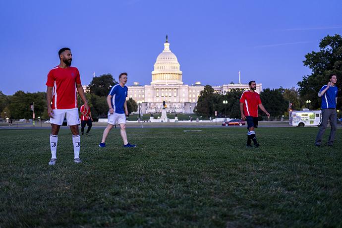 Egyptian Coptic Christians, congressional staffers play soccer, raise discrimination awareness