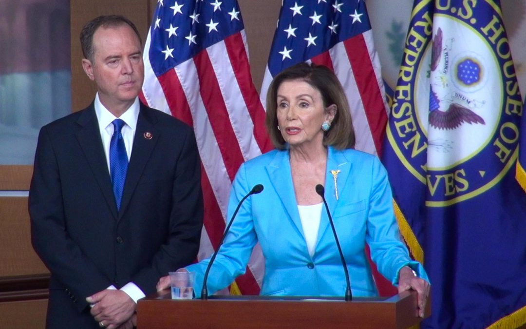 """We want to be fair to the president."" Pelosi, Schiff Hold Joint Press Conference as Impeachment momentum grows"