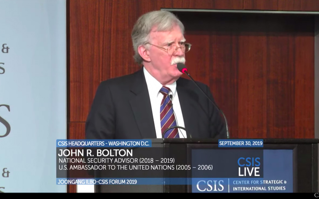 Bolton: 'unacceptable for North Korea to have nuclear weapons,' U.S. military force should be option