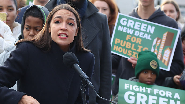 Sanders, Ocasio-Cortez target public housing in first phase of Green New Deal