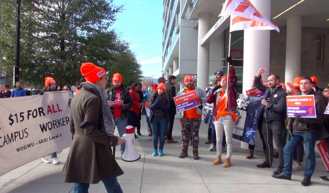 Graduate student workers rally in DC