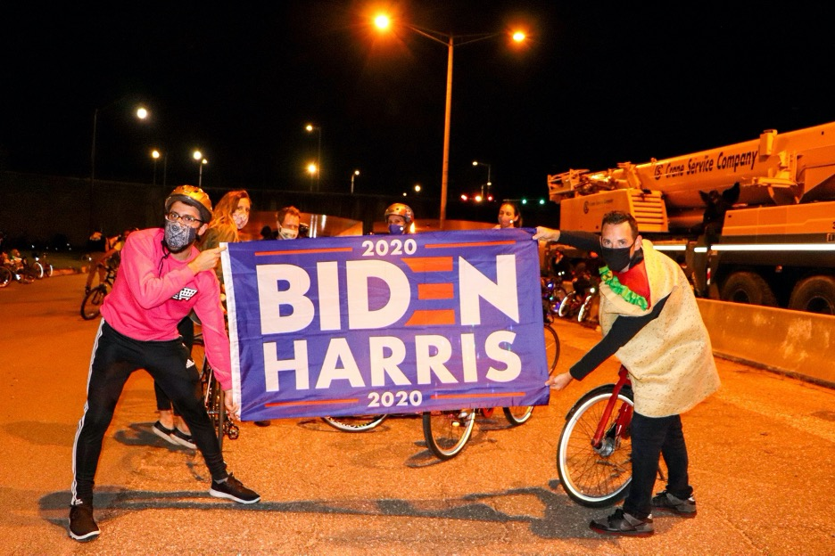 Cyclists and skateboarders hit D.C. streets for a night of Halloween-themed activism