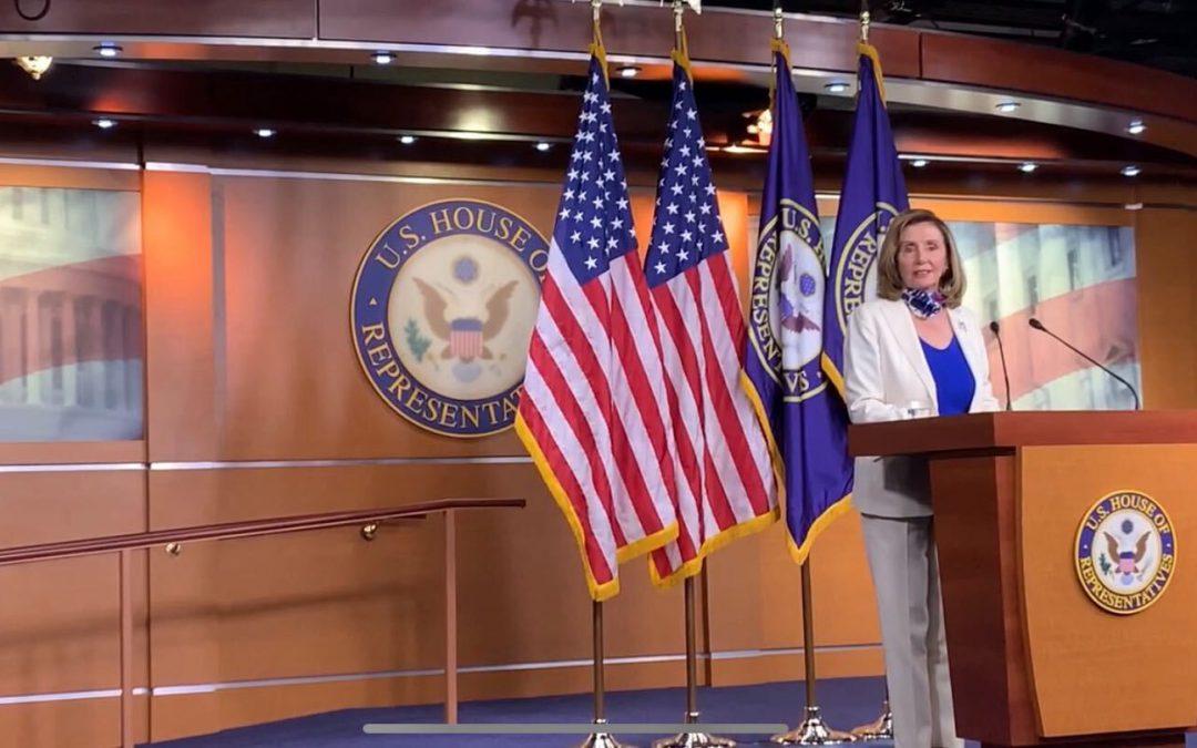 "Pelosi ""hopeful"" House will vote today on $2.2 trillion coronavirus stimulus bill"