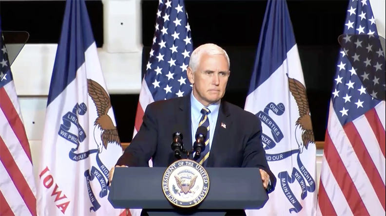 Vice President Pence Applauds Job Creation and COVID-19 Response While Campaigning in Iowa