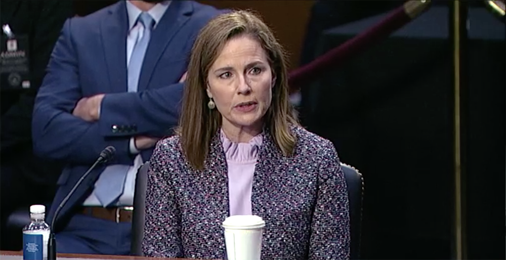 Barrett declines to express view on family separation, dodging final round of questions
