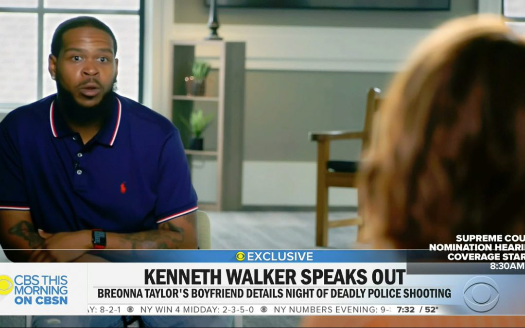 Breonna Taylor's boyfriend tells CBS News what happened on the night of her death