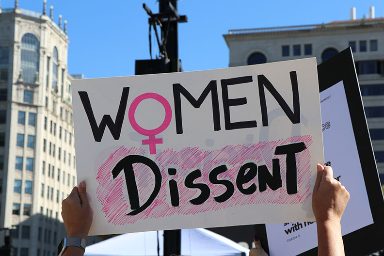 Women's March protesters rally against Trump, Amy Coney Barrett nomination