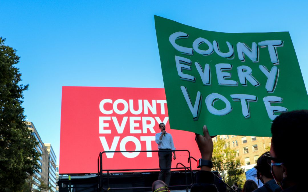 Count Every Vote holds a rally at McPherson Square