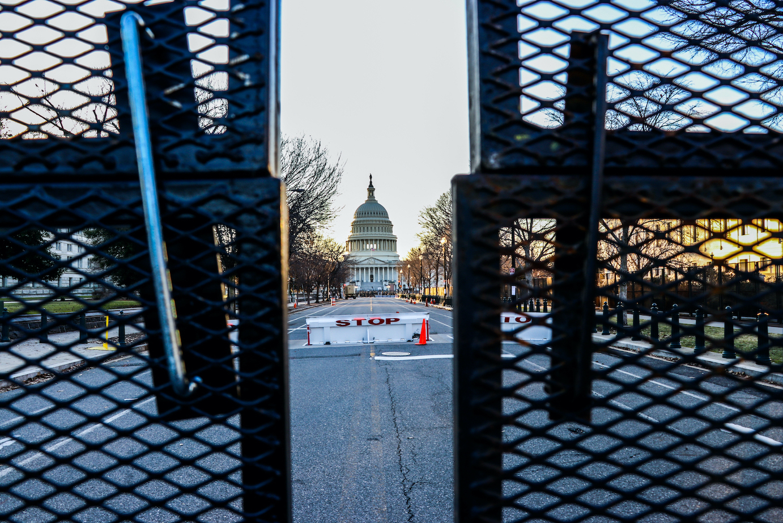 Capitol at Biden inauguration