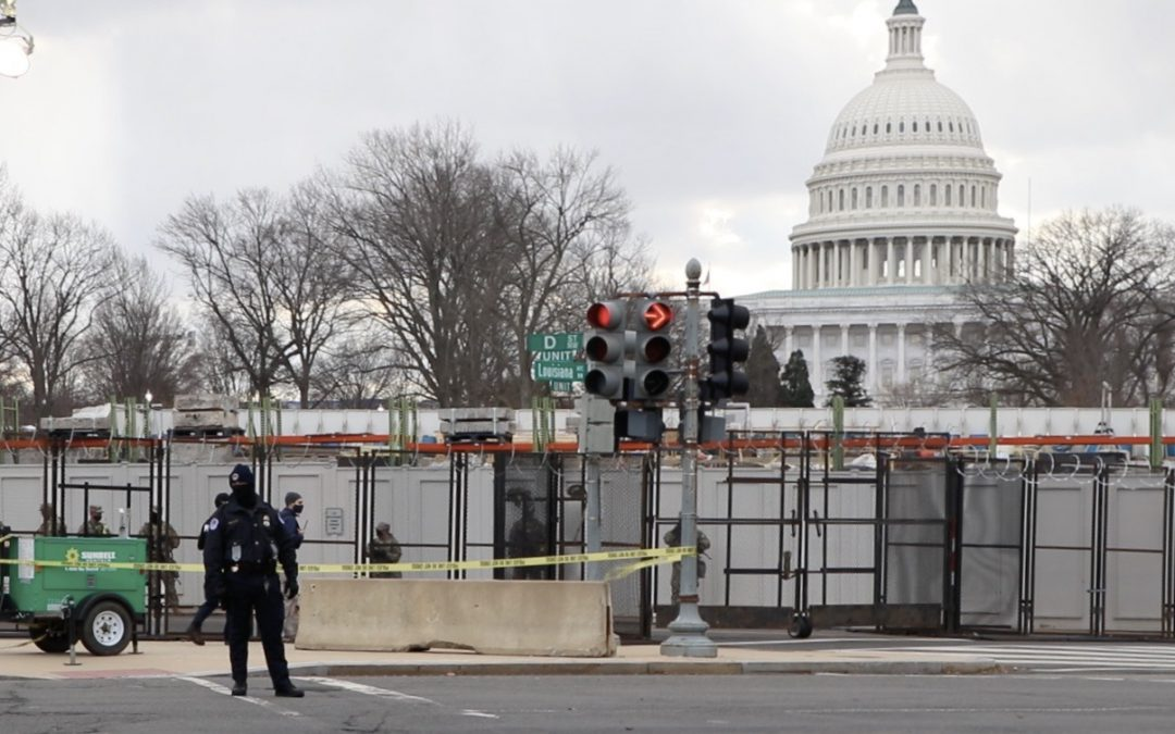 VIDEO: Washington largely empty for unprecedented Inauguration Day