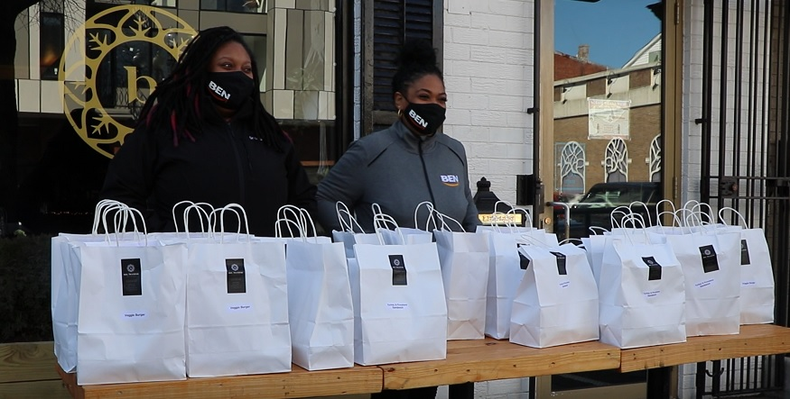 Black-owned restaurant distributes meals to first-responders, front-line workers