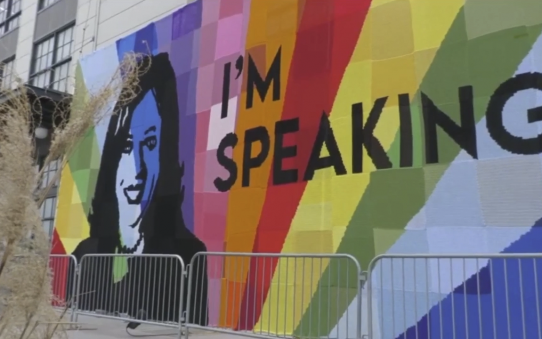 VIDEO : DC Mural Celebrates Vice President Harris